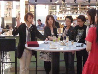 恵比寿ガーデンプレイスのレストランオイスターバーでマジシャン派遣
