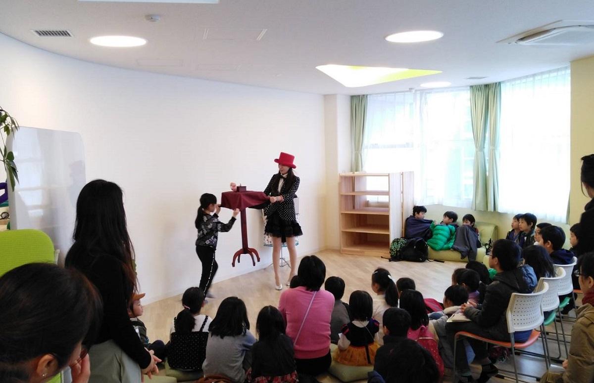 マジシャン出張・マジック派遣 南海子 学童施設でのイベントで